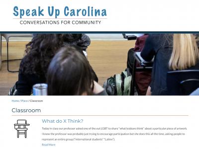 Speak Up Carolina classroom page