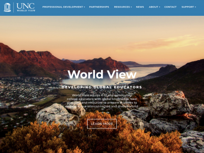 UNC World view website home page
