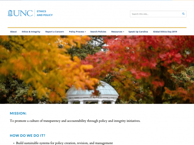 Ethics and Integrity homepage
